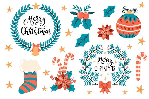 Ręcznie rysowane świąteczne dekoracje