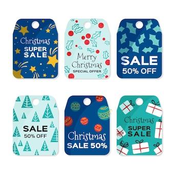 Ręcznie rysowane świąteczne oferty sprzedaży