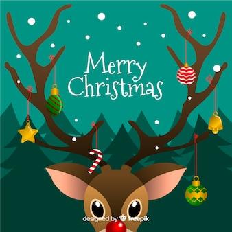 Ręcznie rysowane świątecznych dekoracji