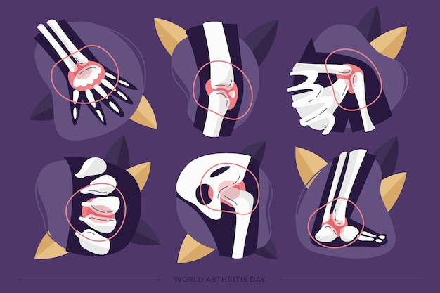 Ręcznie rysowane światowy dzień artretyzmu w tle