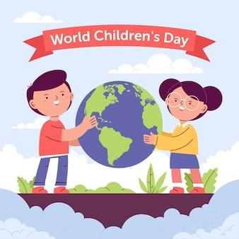 Ręcznie rysowane światowy dzień dziecka