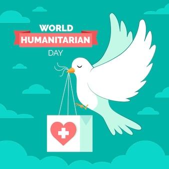 Ręcznie rysowane światowy dzień humanitarny