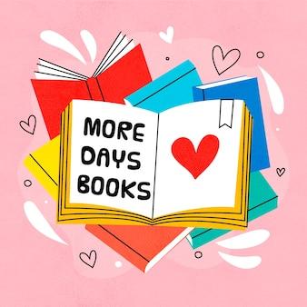 Ręcznie rysowane światowy dzień książki koncepcja
