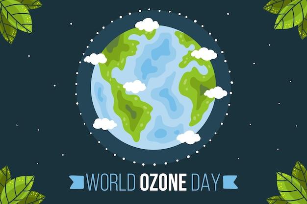 Ręcznie rysowane światowy dzień ozonu w tle