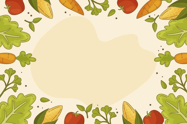 Ręcznie rysowane światowy dzień wegetariański tło