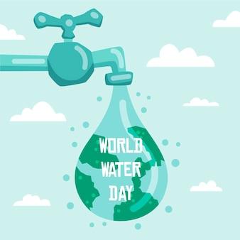 Ręcznie rysowane światowy dzień wody