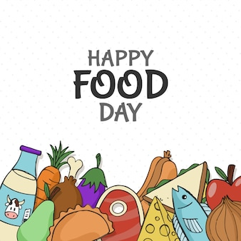 Ręcznie rysowane światowy dzień żywności