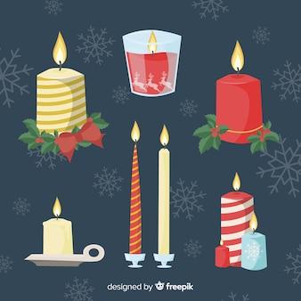 Ręcznie rysowane świece świąteczne