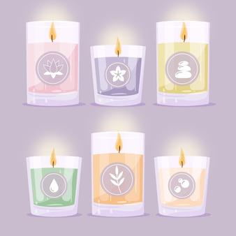 Ręcznie rysowane świece zapachowe
