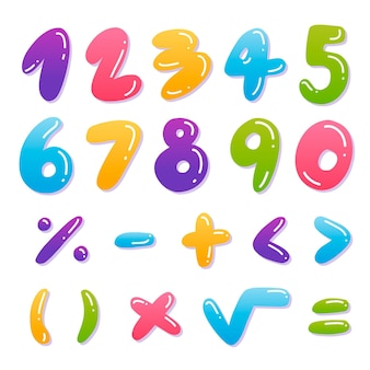 Ręcznie rysowane symbole matematyczne