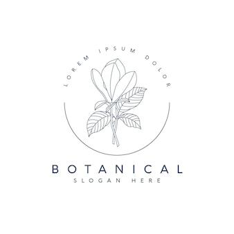 Ręcznie rysowane szablon botaniczny kwiatowy logo