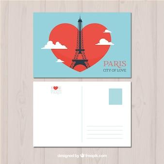Ręcznie rysowane szablon karty pocztowej