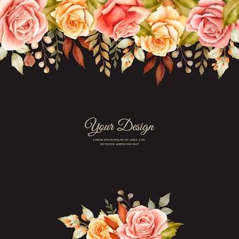 Ręcznie rysowane szablon karty ślubu