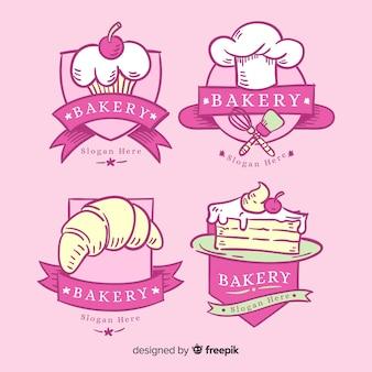 Ręcznie rysowane szablon logo piekarni