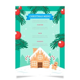 Ręcznie rysowane szablon menu świąteczne
