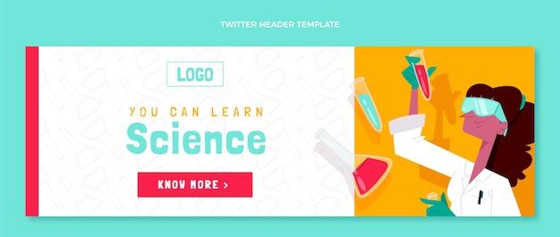 Ręcznie rysowane szablon nagłówka twittera nauki