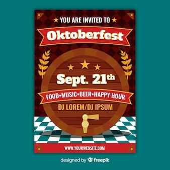 Ręcznie rysowane szablon plakat oktoberfest