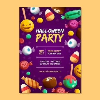Ręcznie rysowane szablon plakatu halloween party
