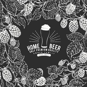 Ręcznie rysowane szablon projektu piwa.
