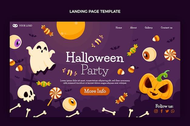 Ręcznie rysowane szablon strony docelowej halloween party