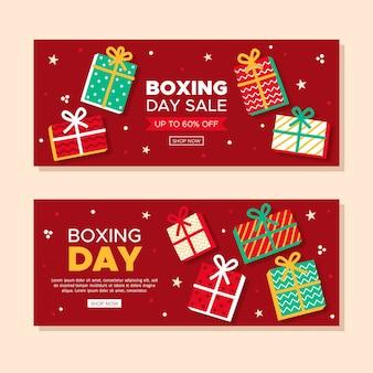 Ręcznie rysowane szablon świąteczny dzień sprzedaż banery