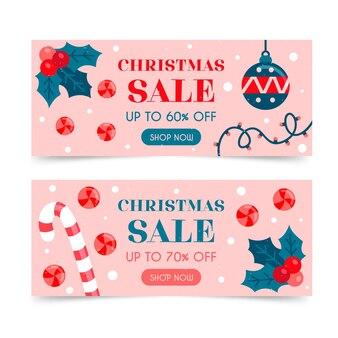Ręcznie rysowane szablon transparent świątecznej sprzedaży