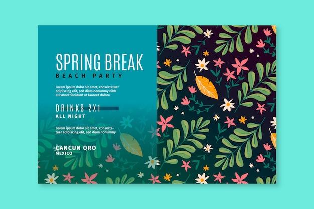 Ręcznie rysowane szablon transparent wiosna
