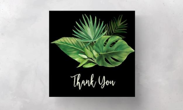 Ręcznie rysowane szablon zaproszenia ślubne zielone liście