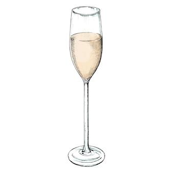 Ręcznie rysowane szampana