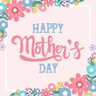 Ręcznie rysowane szczęśliwy dzień matki