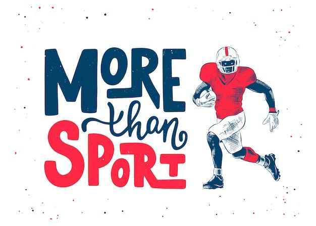 Ręcznie rysowane szkic gracza futbolu amerykańskiego
