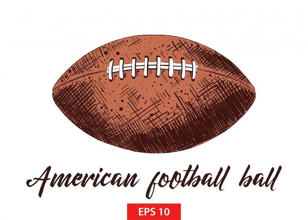 Ręcznie rysowane szkic piłki futbolowej