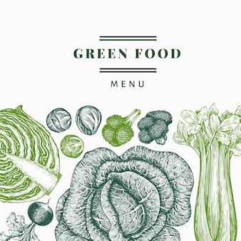 Ręcznie rysowane szkic projektu warzyw