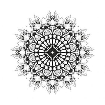 Ręcznie rysowane sztuki orientalnej mandali