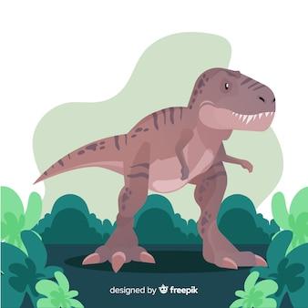 Ręcznie rysowane t-rex ilustracja
