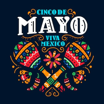 Ręcznie rysowane tapety cinco de mayo