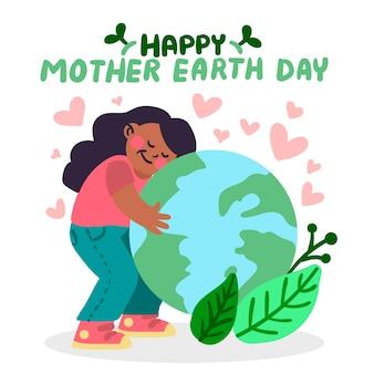 Ręcznie rysowane tapety dzień matki ziemi