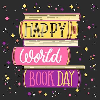 Ręcznie rysowane tapety światowy dzień książki
