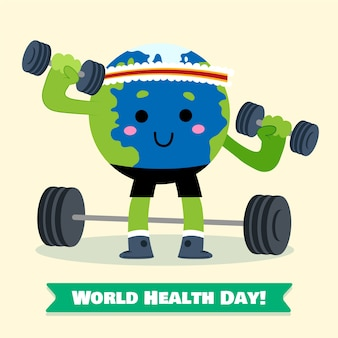 Ręcznie rysowane tapety światowy dzień zdrowia