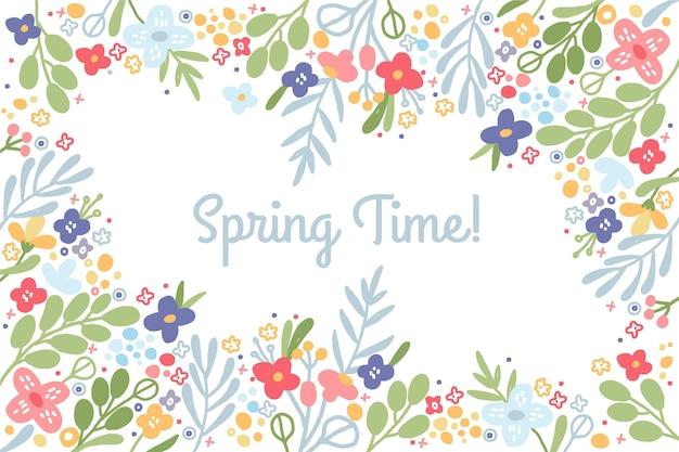 Ręcznie rysowane tapety wiosna