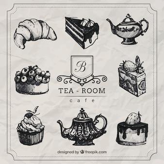 Ręcznie rysowane tea time