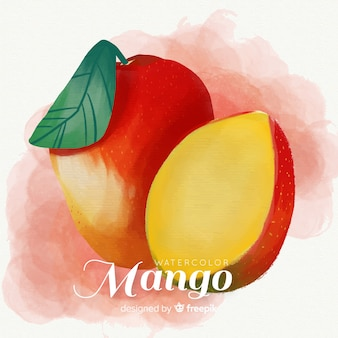 Ręcznie rysowane tła akwarela mango