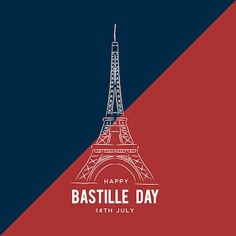 Ręcznie rysowane tła bastille dzień