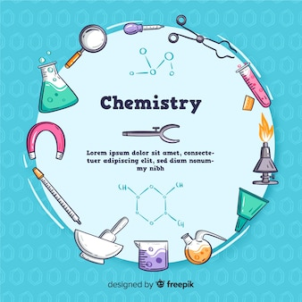 Ręcznie rysowane tła chemii