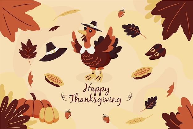Ręcznie rysowane tła dziękczynienia