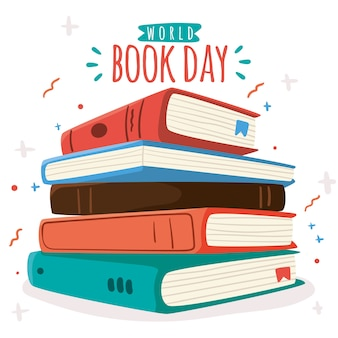 Ręcznie rysowane tła dzień książki świata