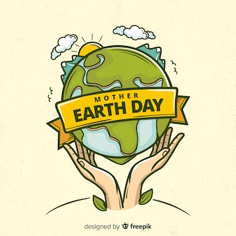 Ręcznie rysowane tła dzień matki ziemi