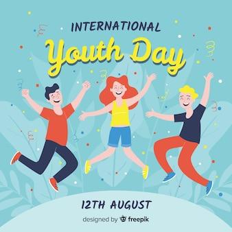 Ręcznie rysowane tła dzień młodzieży