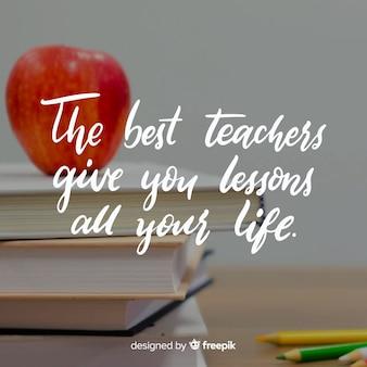 Ręcznie rysowane tła dzień nauczyciela świata