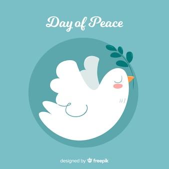 Ręcznie rysowane tła dzień pokoju z gołębicy